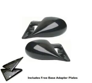 FORD ESCORT Mk3/4 80-90 M3 STYLE UNIVERSAL CAR DOOR MIRRORS BASE PLATES ABS