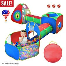5 in 1 Crawl House Tunnel Portable Kids In/Outdoor Toddler Play Tent Ball Pit