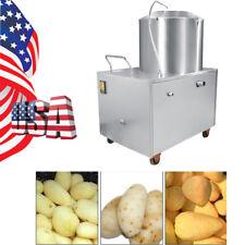 US CE Commercial Potato Peeler Automatic Potato Peeling Cleaning Washing machine