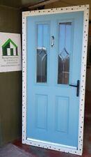 composite double glazed door turquoise white entrance porch upvc 997x2116 (6168