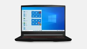 New MSI GF63 10SCXR-485 15.6'' FHD IPS Thin Laptop i7-10750H 8GB 512GB GTX 1650
