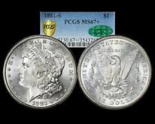 1881 S Morgan Dollar PCGS CAC MS 67+ Plus Grade!! NICE!!
