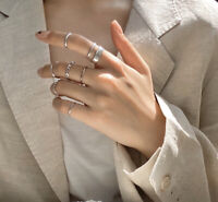 Fashion Silver Gold Adjustable Rings Set Women Accessories Ring Gift Colour