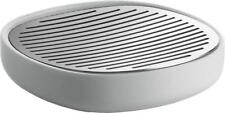 Alessi Birillo Soap Dish, White in 18/10 Stainless Steel Mirror Polished