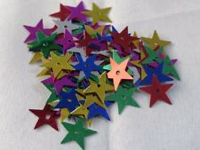 100 Sterne Streuelemente Streudeko  Basteln Kartengestaltung Multicolor  ca.20mm