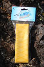 Fishing Rod Handle Heat Shrink X Flock Wrap Tubing by Rod Skins 30mm x 1m Yellow