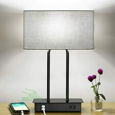 New-Bedside Touch Control Table Lamp with Dual USB...