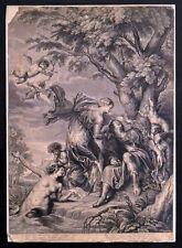 Misericordioso enamorando de Rinaldo 1644 Robert Blyth Grabado Antiguo