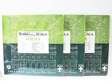 MARIA CALLAS & SERAFIN Norma - ORIG. 33cx 1179/81 COLUMBIA UK-1950s 3-LPs
