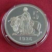 EDWARD VIII 1936 NEW STRIKE SILVER PROOF PATTERN 5 SHILLING CROWN