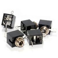 3.5mm 3 Pole Stereo Jack Socket Solder Chassis Mount (5 Pack) [007075]
