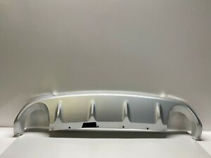 Lequer Fits for Lincoln MKC 2015-2018 Rear Bumper Plate Cover Bar Sill Trim Protector Silver Outside