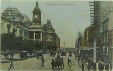 MELBOURNE , SWANSTON STREET VICTORIA EARLY 1900'S POSTCARD