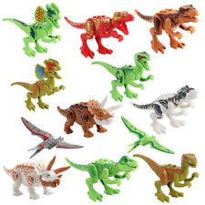 12 PCS/ Sets Jurassic World Dinosaurs Mini Figures Building bricks Toys