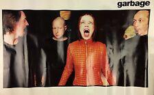 """Vintage Garbage Music Poster 33.5 x 22"""" 1998 Original"""