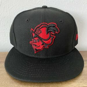 NWOT New Era Albuquerque Dukes Isotopes MiLB 59Fifty Fitted Hat 7 1/4 Black Red