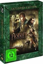 DER HOBBIT: SMAUG'S EINÖDE, Extended Edition (3 Blu-ray Discs) NEU+OVP