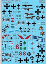 PRINT SCALE DECALS 1/72 AUSTRO-HUNGARIAN ACES OF WWI Pt.1  72-316 (Albatros)