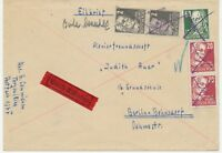 ALLIIERTE BESETZUNG-SBZ 1949 Persönlichkeiten 2 (2 x), 20 (2 x) u. 60 (Pf) a. Bf