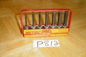 MAC TOOLS 7 PIECE 3/8 DRIVE METRIC STADARD HEX DRIVER SET SXMA7T 4MM TO 10MM