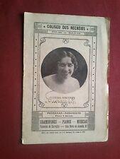 RARO 1929 PORTUGAL LISBON COLISEUM ANDRE CHENIER GIORDANO OPERA PROGRAMMA