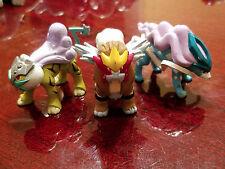 100% Authentic Takara Tomy Pokemon Raikou Entei Suicune PVC Figure Lot US Seller