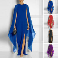 Maxi Evening Dress Cocktail Summer Boho Womens Beach Chiffon Party Lace Long