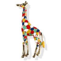 Enamel Giraffe Brooch Pin Women Animal Badge Corsage Brooch Jewelry Gift Cute Fw