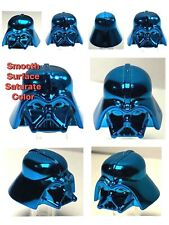 LEGO DARTH VADER HELMET CHROME BLUE GENUINE CUSTOM HIGHEST QUALITY MONOCHROME
