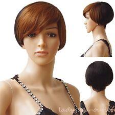 7A Grade 100% Human Hair Wig Short Wavy Straight Ombre Hair Wig Women Lady Dress