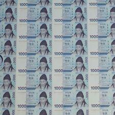 South Korea 2007 Uncut Sheet 45 NOTE 1,000won Currency Money AA9820484D