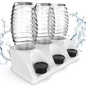 SODACLEAN® Abtropfhalter weiß für SodaStream Crystal | 3er Flaschenhalter Easy