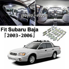 10 Bright White Bulb For Subaru Baja 2003-2006 LED Interior Light Package Kit