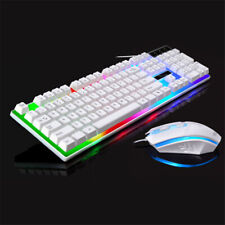 USB Wired Slim Qwerty Keyboard & Mouse UK Layout For PC Computer Laptop PS4 NEW