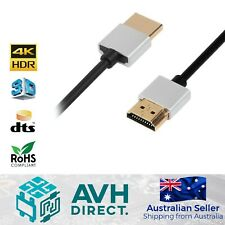 4K HDMI 2.0 High Speed Slim Cable Male to Male - 2M