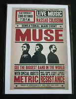 MUSE : NASSAU COLISEUM 23 OCTOBER   : A4 GLOSSY REPO POSTER