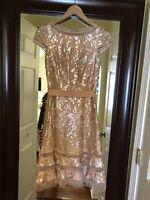 Tadashi Shoji Sequin Lace Primrose Fit and Flare Dress Size 0