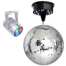 Mirror Disco Ball DJ Stage Party Motor RGB LED Light Kit Rotating Spotlight Kit