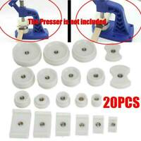 Pro 20PC Watch Back Case Press Crystal Glass Closer Fitting Repair Tool Dies Kit