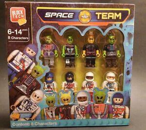 Block Tech Space Team Astronaut Pilot Moon Walker Martian Space Ailens NEW !