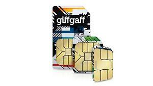 GiffGaff Sim Card Pre Pay As You Go £5 FREE 4G Standard PAYG FREE SHIPPING 04