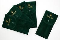 4+1 Promozione Rolex Watch Box Verde Tessuto Floccato NEW Antigraffio