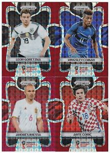 2018 PANINI PRIZM FIFA WORLD CUP - 'RED MOSAIC' CARDS - CHOOSE YOUR CARD