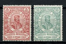 Italy 1910 SG#83-4 National Plebiscite MH Set Cat £465 #A46415