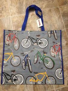 NEW TJ MAXX Shopping Bag BICYCLES Reusable Travel Tote NWT