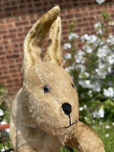 🧡🧡 Vintage Old Antique Rabbit with painted back glass eyes! 🧡🧡