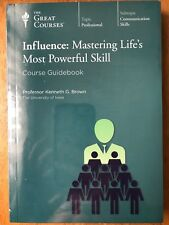 New Great Courses Influence Mastering Life's Most Powerful Skill 2-DVD/Book Set