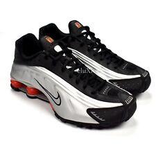 Nike Men's Shox R4 OG Metallic Silver Black Orange Sneakers 10 DS 2015 AUTHENTIC