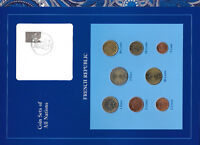 Coin Sets of All Nations France w/card EURO 1999-2001 UNC 1,2 Euro 1999