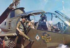 Vietnam War U.S. Army Cobra Gunship High Gloss 1969 Old Grainy 8.5x11 Photo